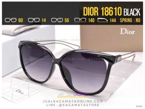Harga Kacamata Terlaris 2017 Dior 18610 Black