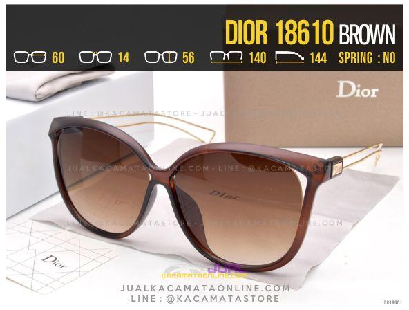 Trend Kacamata Terlaris 2017 Dior 18610 Brown