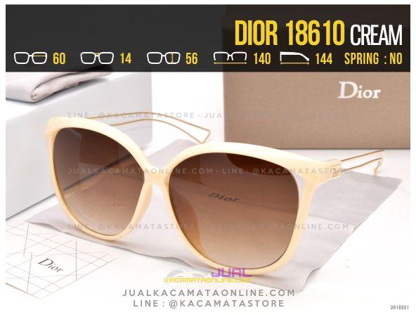 Gambar Kacamata Terlaris 2017 Dior 18610 Cream