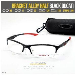 Jual Frame Kacamata Minus Oakley Bracket Alloy Half Black ducati