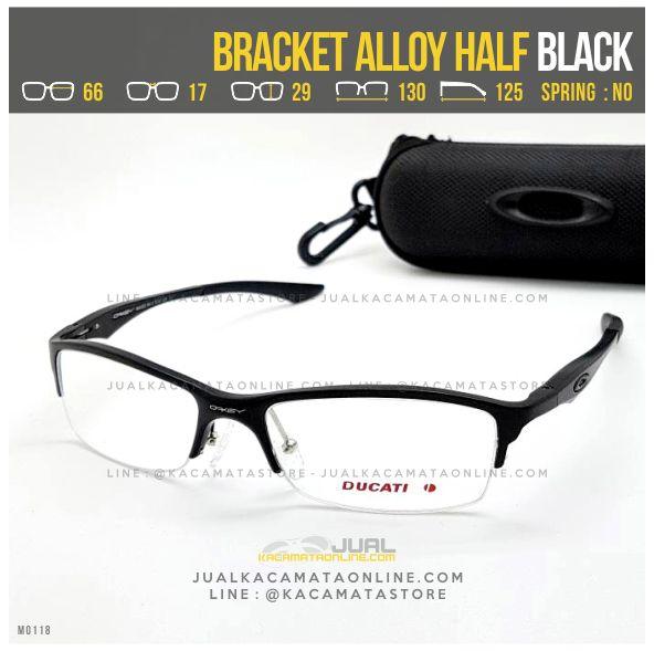 Gambar Frame Kacamata Minus Oakley Bracket Alloy Half Black