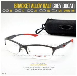 Trend Frame Kacamata Pria Oakley Bracket Alloy Half Grey Ducati