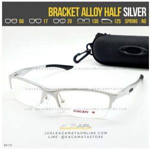 Jual Frame Kacamata Pria Oakley Bracket Alloy Half Silver
