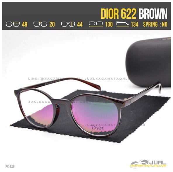 Gambar Frame Kacamata Terbaru Dior 622 Brown