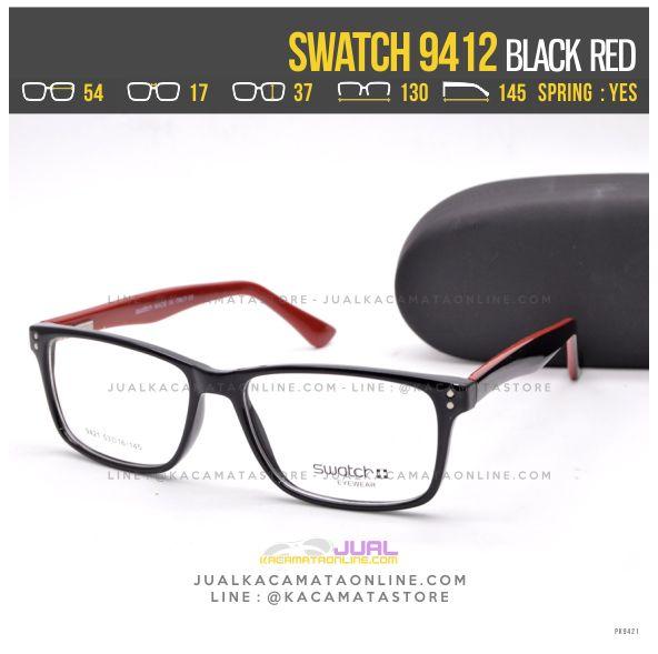 Gambar Frame Kacamata Terbaru Swatch 9412 Black Red