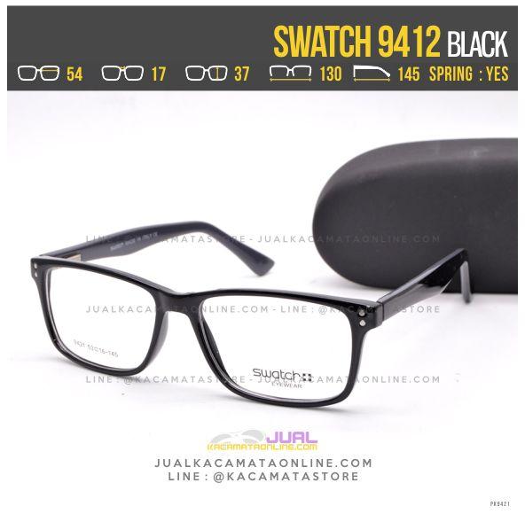 Harga Frame Kacamata Terbaru Swatch 9412 Black