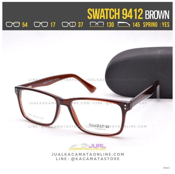 Jual Frame Kacamata Terbaru Swatch 9412 Brown