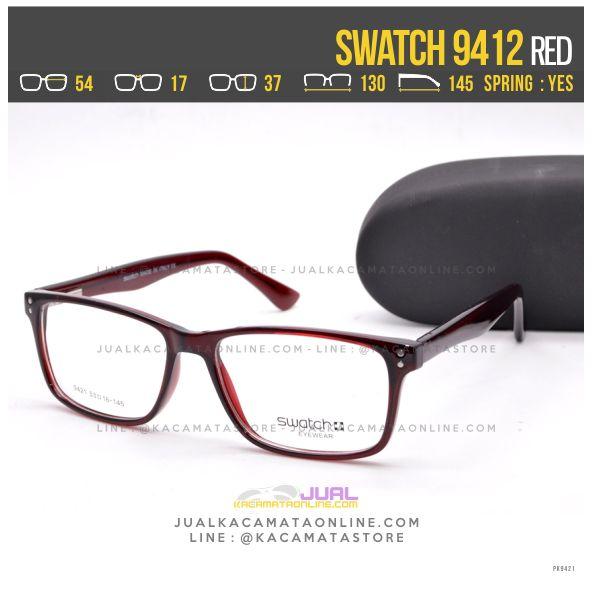 Model Frame Kacamata Terbaru Swatch 9412 Red