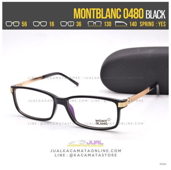 Model Frame Kacamata Terlaris 2017 MontBlanc 0480 Black