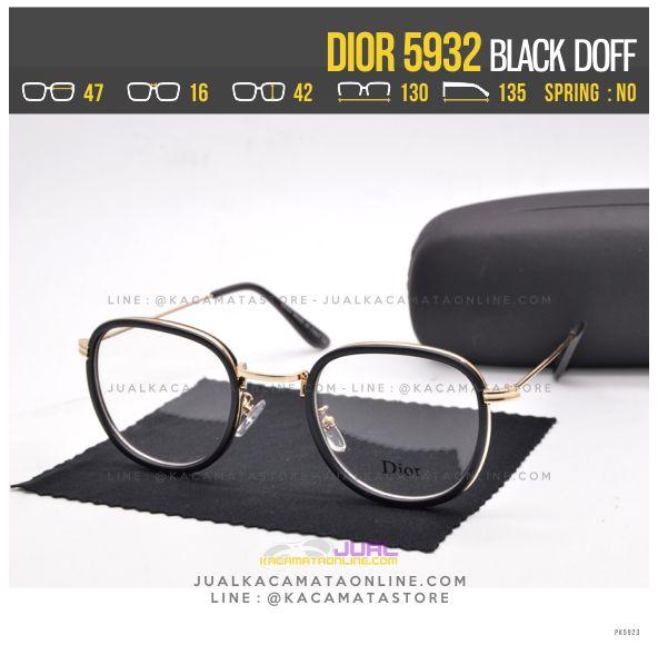 Harga Frame Kacamata Wanita Dior 5932 Black Doff