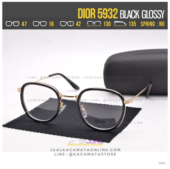 Trend Frame Kacamata Wanita Dior 5932 Black Glossy