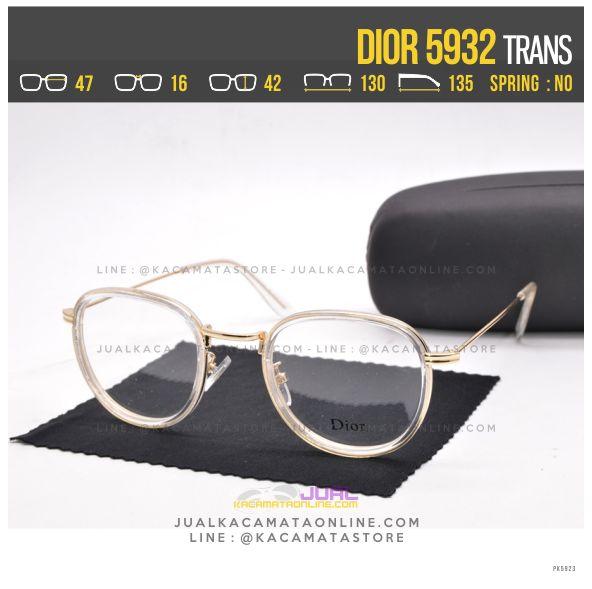 Model Frame Kacamata Wanita Dior 5932 Trans