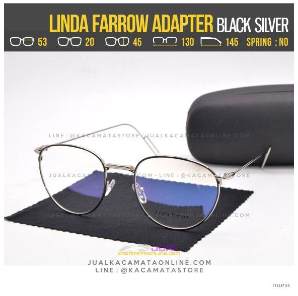 harga Kacamata Baca Terbaru Linda Farrow Adapter Black Silver