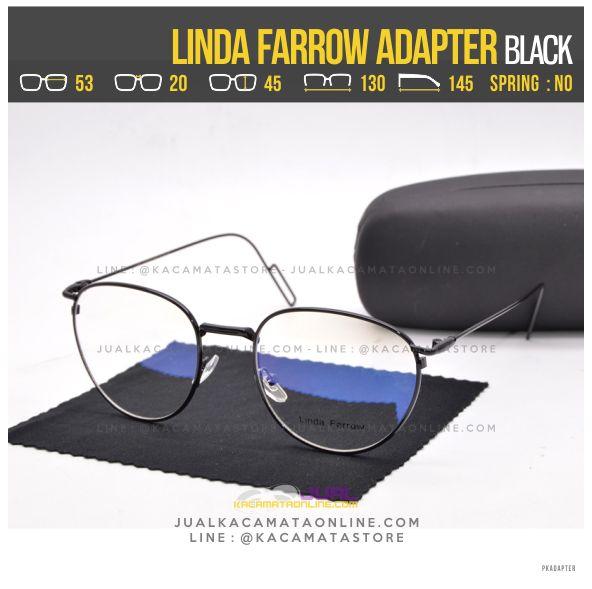 Trend Kacamata Baca Terbaru Linda Farrow Adapter Black