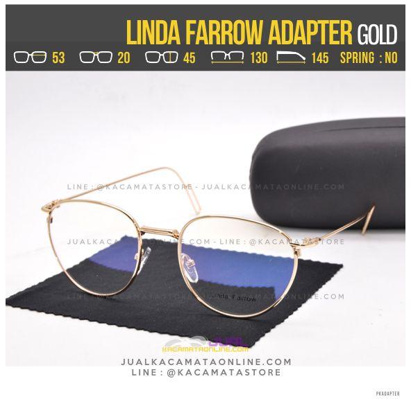 Jual Kacamata Baca Terbaru Linda Farrow Adapter Gold
