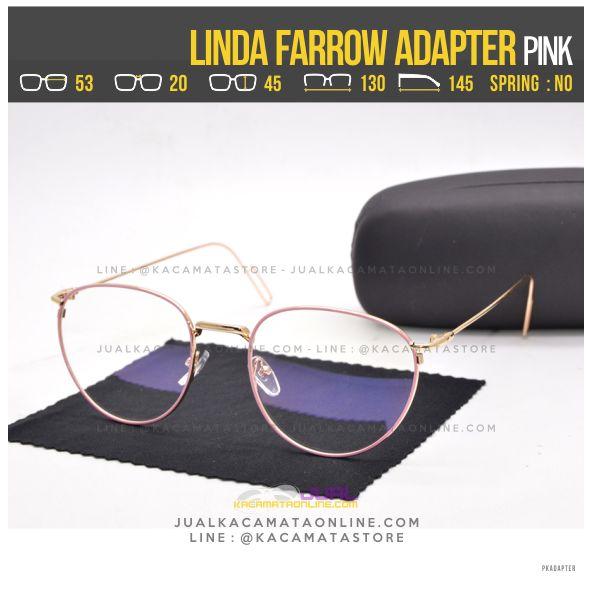 Model Kacamata Baca Terbaru Linda Farrow Adapter Pink