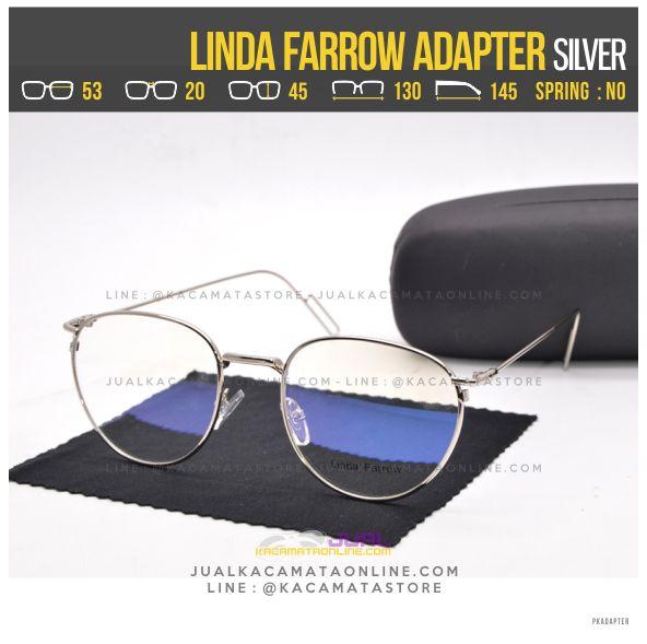 Grosir Kacamata Baca Terbaru Linda Farrow Adapter Silver