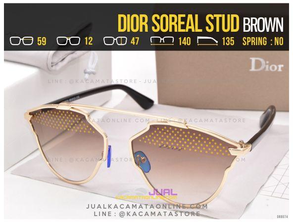 Gambar Kacamata Cewek Terlaris 2017 Dior Soreal Stud Brown