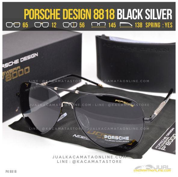 Jual Kacamata Cowok Terbaru Porsche Design 8818 Black Silver
