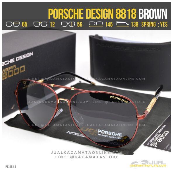 Model Kacamata Cowok Terbaru Porsche Design 8818 Brown
