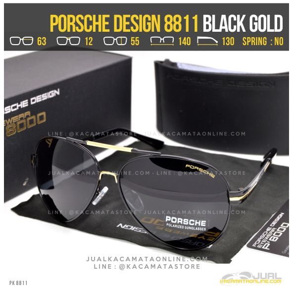Trend Kacamata Gaya Terbaru Porsche Design 8811 Black Gold