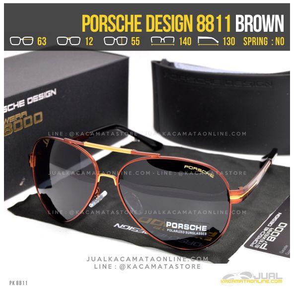 Model Kacamata Gaya Terbaru Porsche Design 8811 Brown