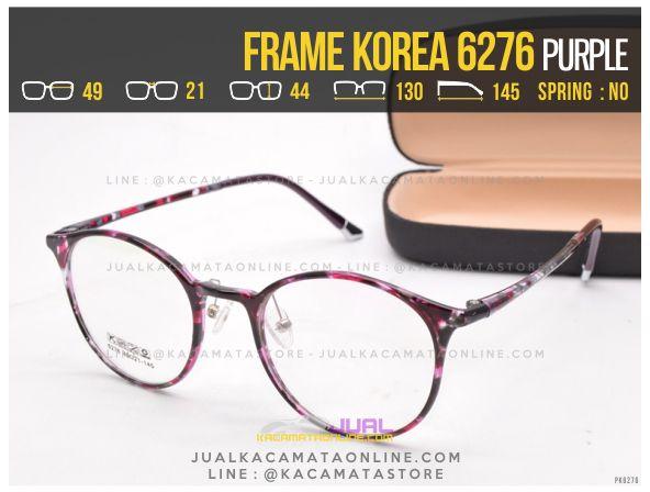 Model Kacamata Korea Bulat Terbaru 6276 Purple