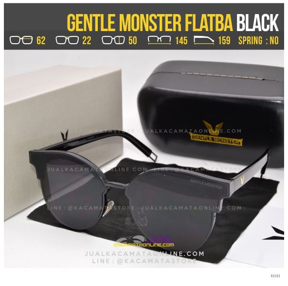 Model Kacamata Korea Terlaris Gentle Monster Flatba Black