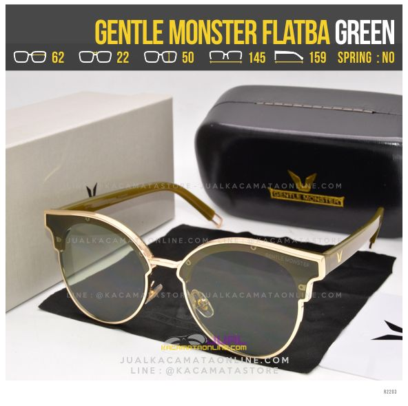 Jual Kacamata Korea Terlaris Gentle Monster Flatba Green