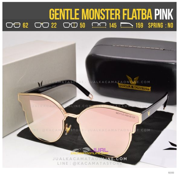 Trend Kacamata Korea Terlaris Gentle Monster Flatba Pink