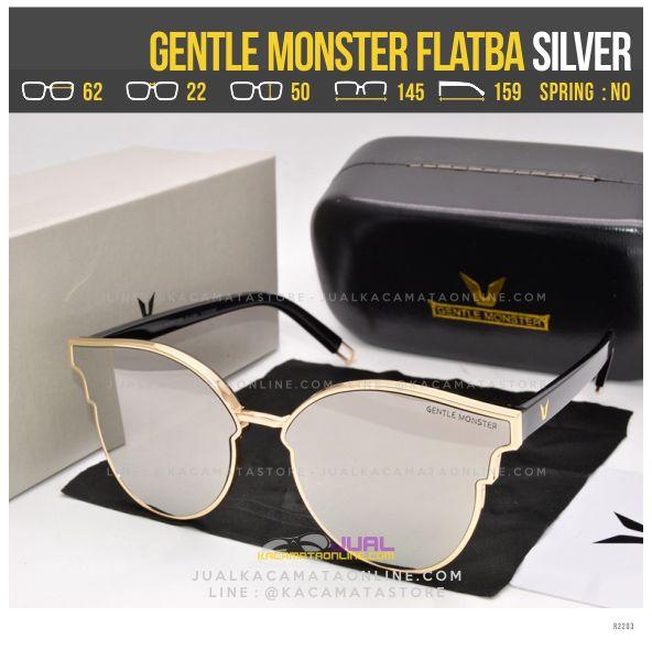 Gambar Kacamata Korea Terlaris Gentle Monster Flatba Silver