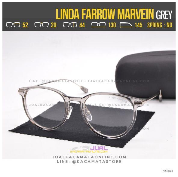 Trend Kacamata Minus Terbaru Linda Farrow Marvein Grey