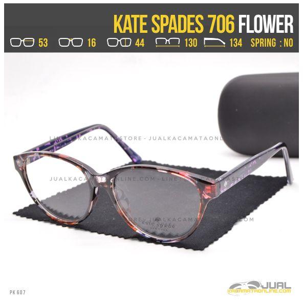 Jual Kacamata Minus Wanita Terbaru Kate Spade 706 Flower