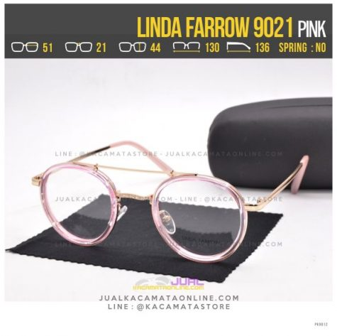 Model Kacamata Minus Wanita Terbaru Linda Farrow 9021 Pink