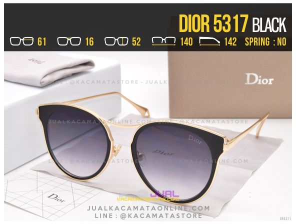 Grosir Kacamata Wanita Terbaru 2017 Dior 5317 Black