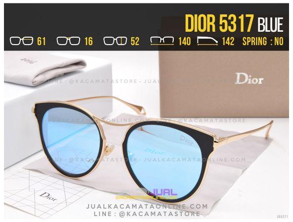 Harga Kacamata Wanita Terbaru 2017 Dior 5317 Blue