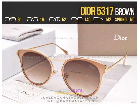 Trend Kacamata Wanita Terbaru 2017 Dior 5317 Brown