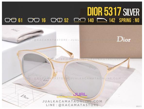 Model Kacamata Wanita Terbaru 2017 Dior 5317 Silver