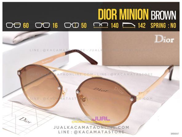 Jual Kacamata Murah Dior Minion Brown
