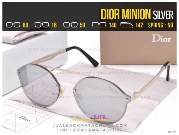Gambar Kacamata Murah Dior Minion Silver