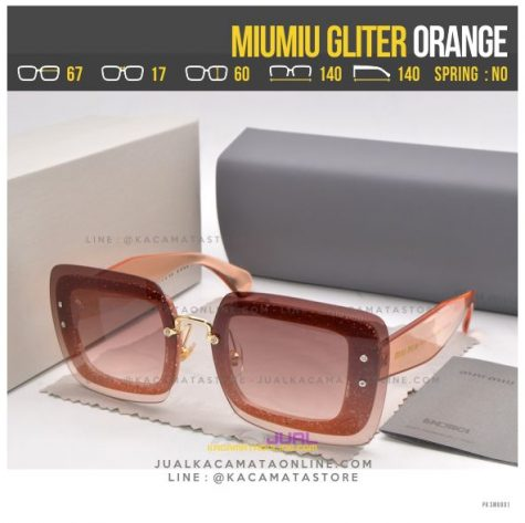 Model Kacamata Fashion Terbaru MiuMiu Gliter Orange
