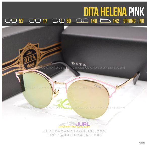 Model Kacamata Gaya Terbaru Dita Helena Pink