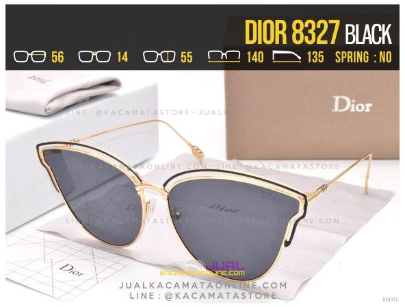 Gambar Kacamata Wanita Terbaru 2017 Dior 8327 Black