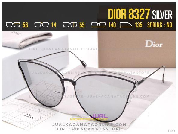 Harga Kacamata Wanita Terbaru 2017 Dior 8327 Silver