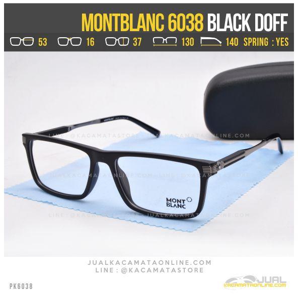 Jual Frame Kacamata Baca MontBlanc 6038 Black Doff