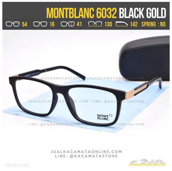 Model Frame Kacamata Optik MontBlanc 6032 Black Gold