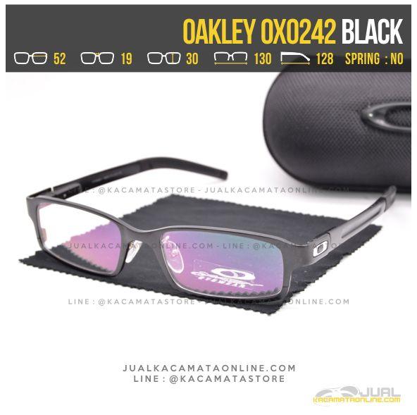 Gambar Kacamata Minus Terbaru Oakley OX0242 Alloy Black