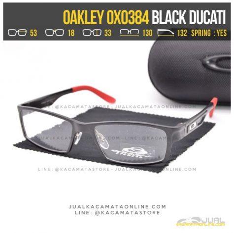 Gambar Kacamata Optik Terbaru Oakley OX0384 Alloy Black Ducati