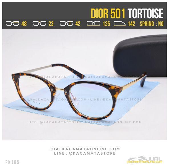 Grosir Kacamata Minus Cewek Dior 501 Tortoise