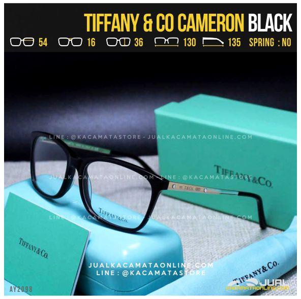 Trend Frame Kacamata Minus Cewek Tiffany Cameron Black